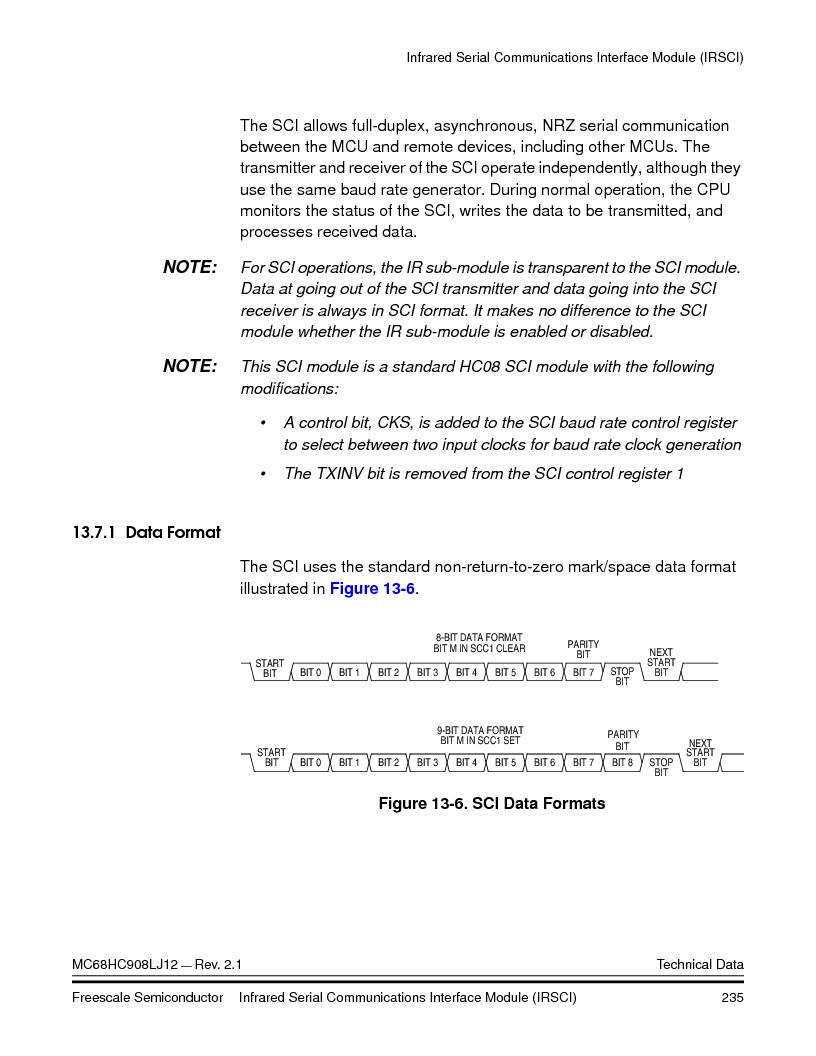 MC908LJ12CFUE ,Freescale Semiconductor厂商,IC MCU 12K FLASH 4/8MHZ 64-QFP, MC908LJ12CFUE datasheet预览  第235页