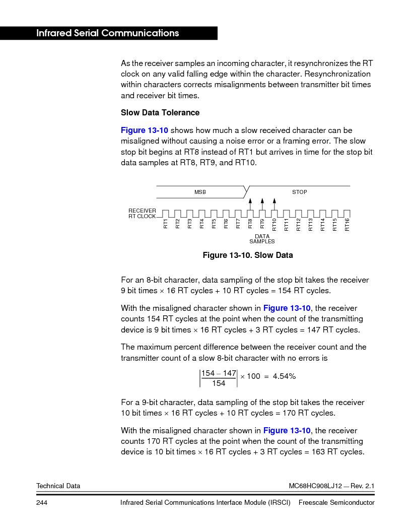 MC908LJ12CFUE ,Freescale Semiconductor厂商,IC MCU 12K FLASH 4/8MHZ 64-QFP, MC908LJ12CFUE datasheet预览  第244页