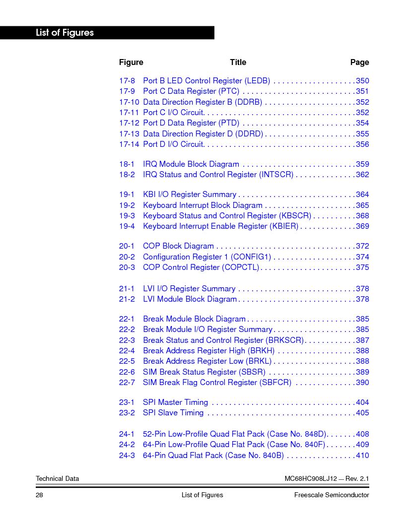 MC908LJ12CFUE ,Freescale Semiconductor厂商,IC MCU 12K FLASH 4/8MHZ 64-QFP, MC908LJ12CFUE datasheet预览  第28页