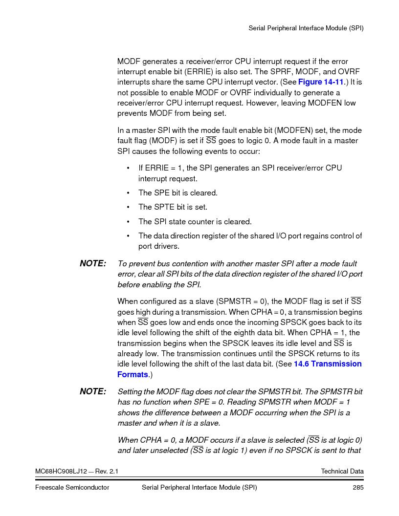 MC908LJ12CFUE ,Freescale Semiconductor厂商,IC MCU 12K FLASH 4/8MHZ 64-QFP, MC908LJ12CFUE datasheet预览  第285页