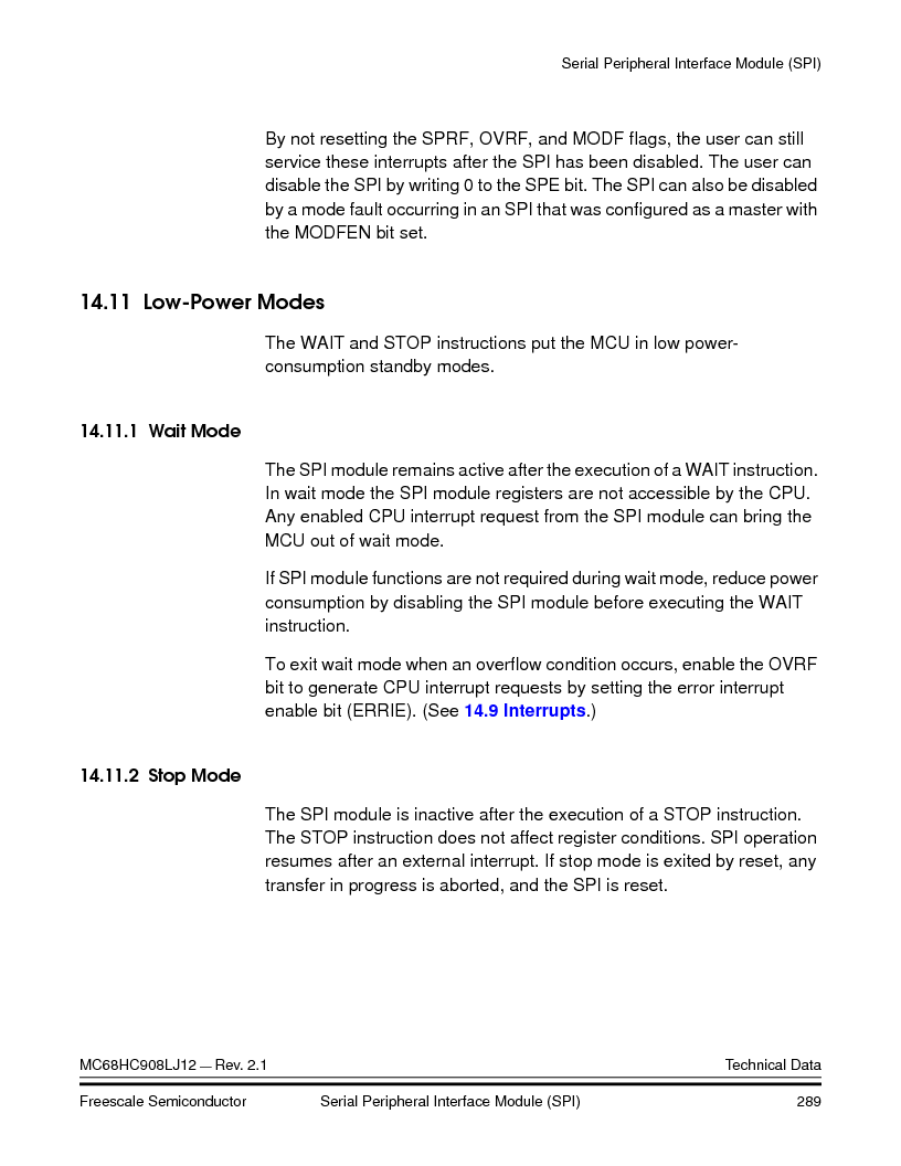 MC908LJ12CFUE ,Freescale Semiconductor厂商,IC MCU 12K FLASH 4/8MHZ 64-QFP, MC908LJ12CFUE datasheet预览  第289页