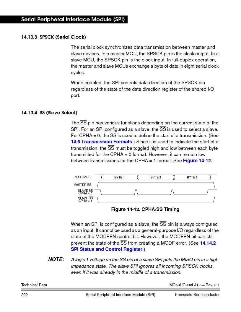 MC908LJ12CFUE ,Freescale Semiconductor厂商,IC MCU 12K FLASH 4/8MHZ 64-QFP, MC908LJ12CFUE datasheet预览  第292页