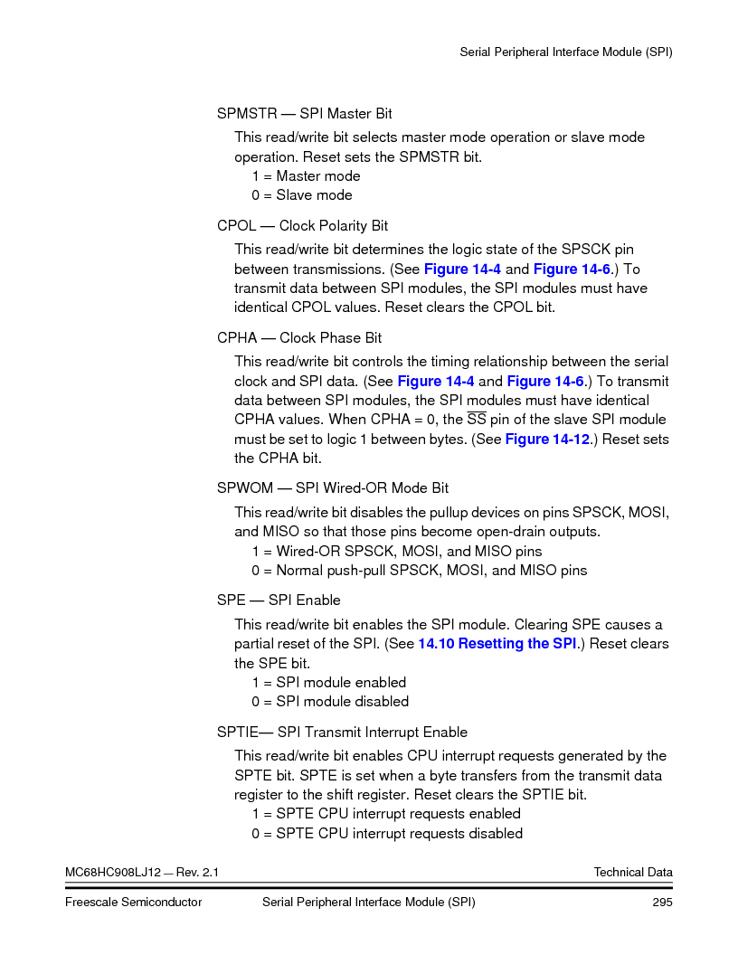 MC908LJ12CFUE ,Freescale Semiconductor厂商,IC MCU 12K FLASH 4/8MHZ 64-QFP, MC908LJ12CFUE datasheet预览  第295页