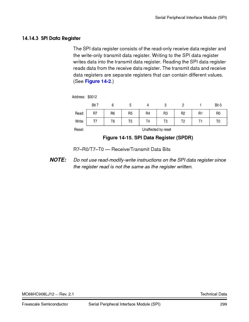 MC908LJ12CFUE ,Freescale Semiconductor厂商,IC MCU 12K FLASH 4/8MHZ 64-QFP, MC908LJ12CFUE datasheet预览  第299页
