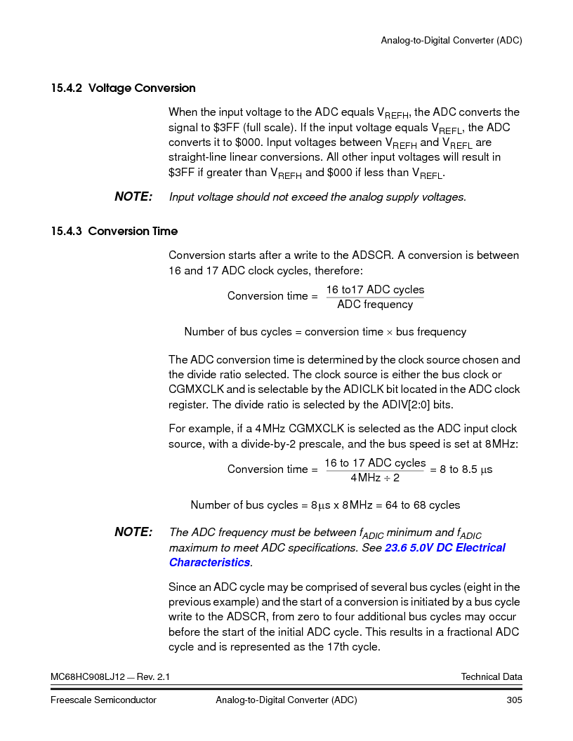 MC908LJ12CFUE ,Freescale Semiconductor厂商,IC MCU 12K FLASH 4/8MHZ 64-QFP, MC908LJ12CFUE datasheet预览  第305页