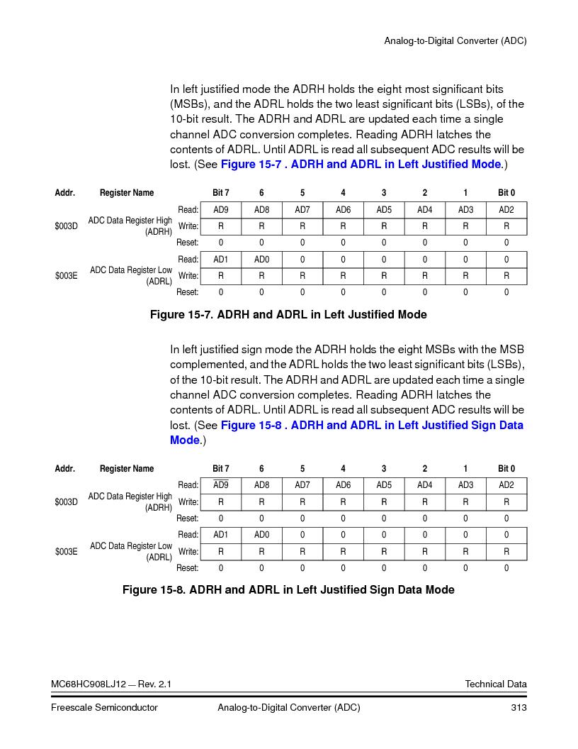 MC908LJ12CFUE ,Freescale Semiconductor厂商,IC MCU 12K FLASH 4/8MHZ 64-QFP, MC908LJ12CFUE datasheet预览  第313页