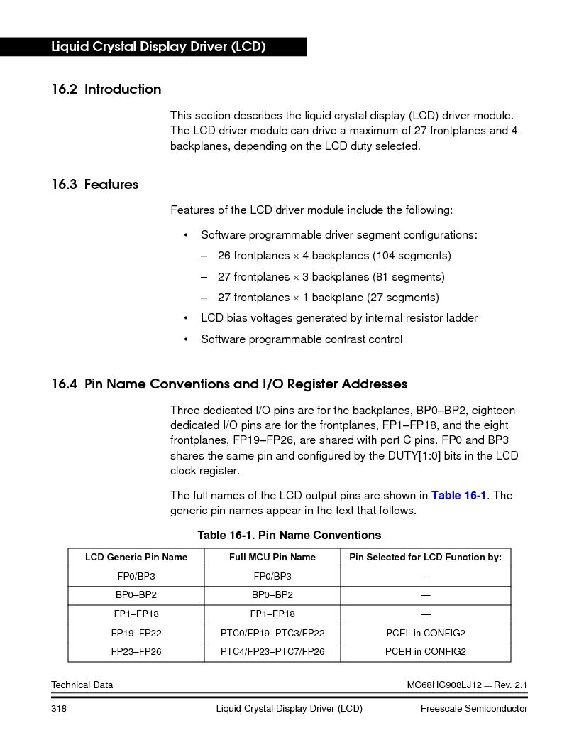 MC908LJ12CFUE ,Freescale Semiconductor厂商,IC MCU 12K FLASH 4/8MHZ 64-QFP, MC908LJ12CFUE datasheet预览  第318页