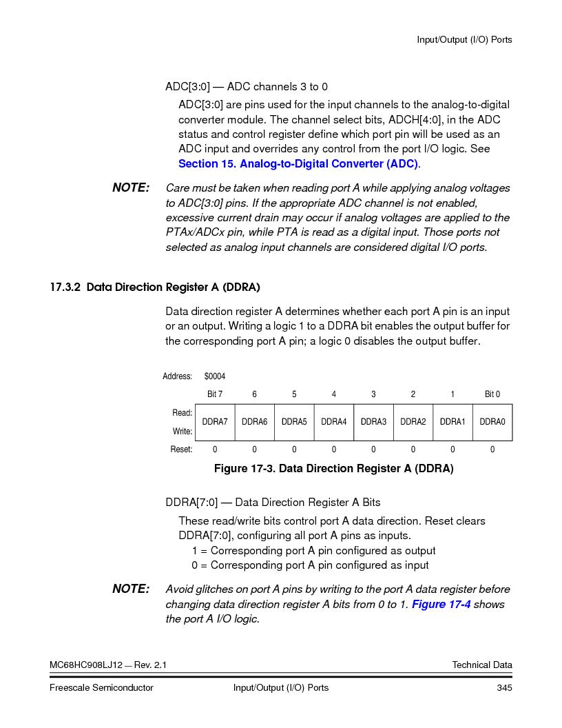 MC908LJ12CFUE ,Freescale Semiconductor厂商,IC MCU 12K FLASH 4/8MHZ 64-QFP, MC908LJ12CFUE datasheet预览  第345页