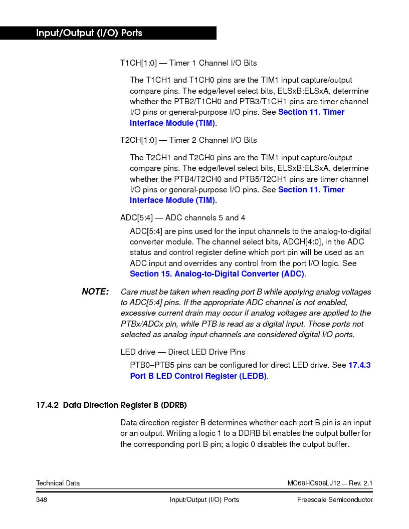 MC908LJ12CFUE ,Freescale Semiconductor厂商,IC MCU 12K FLASH 4/8MHZ 64-QFP, MC908LJ12CFUE datasheet预览  第348页