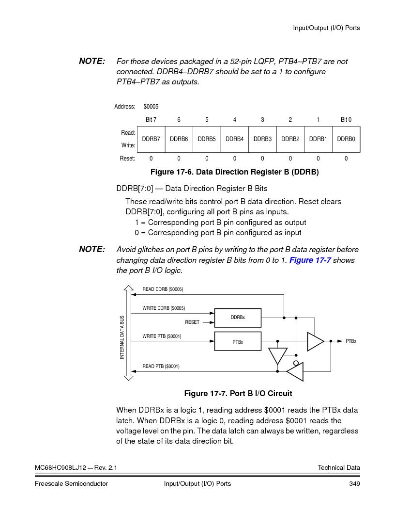 MC908LJ12CFUE ,Freescale Semiconductor厂商,IC MCU 12K FLASH 4/8MHZ 64-QFP, MC908LJ12CFUE datasheet预览  第349页