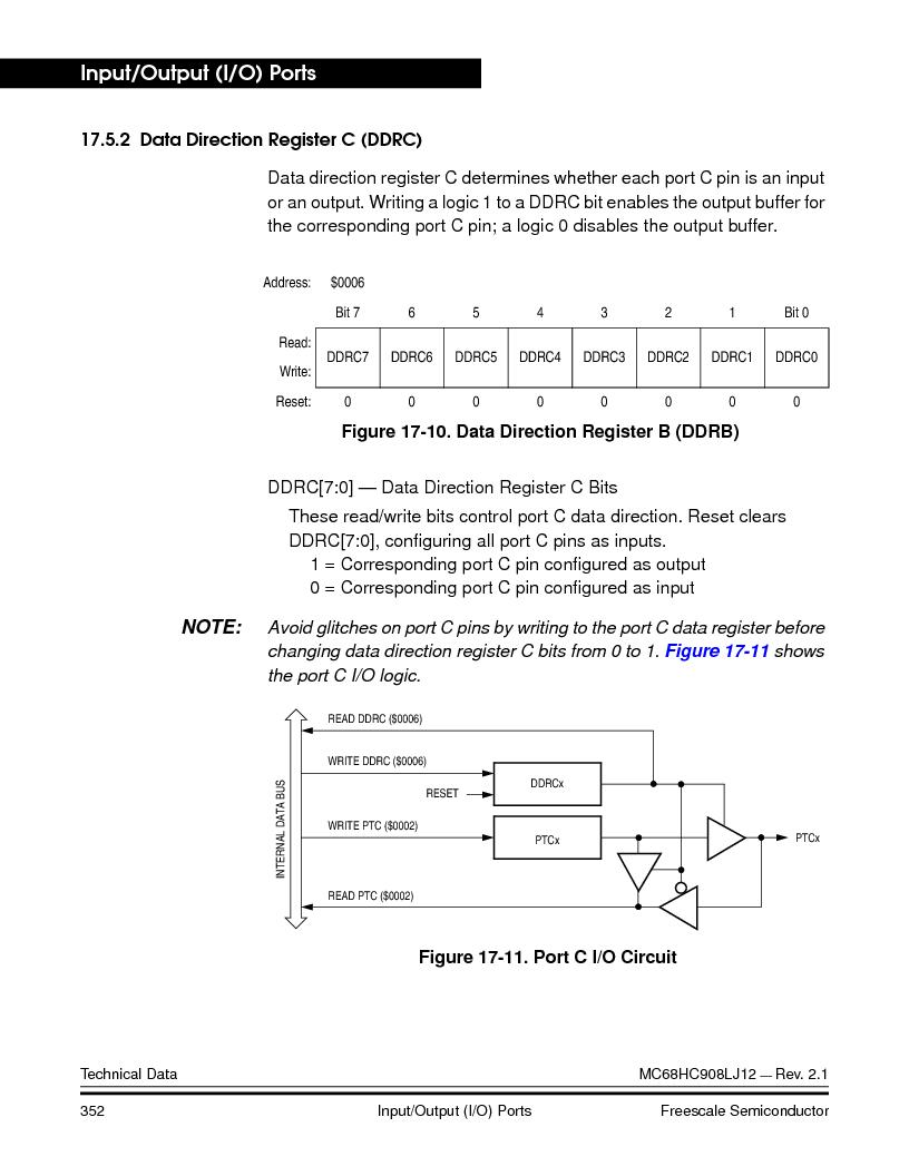 MC908LJ12CFUE ,Freescale Semiconductor厂商,IC MCU 12K FLASH 4/8MHZ 64-QFP, MC908LJ12CFUE datasheet预览  第352页