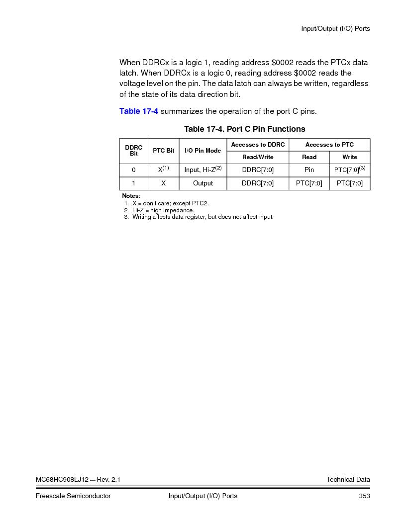 MC908LJ12CFUE ,Freescale Semiconductor厂商,IC MCU 12K FLASH 4/8MHZ 64-QFP, MC908LJ12CFUE datasheet预览  第353页