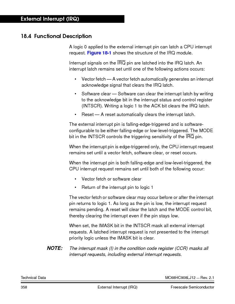 MC908LJ12CFUE ,Freescale Semiconductor厂商,IC MCU 12K FLASH 4/8MHZ 64-QFP, MC908LJ12CFUE datasheet预览  第358页