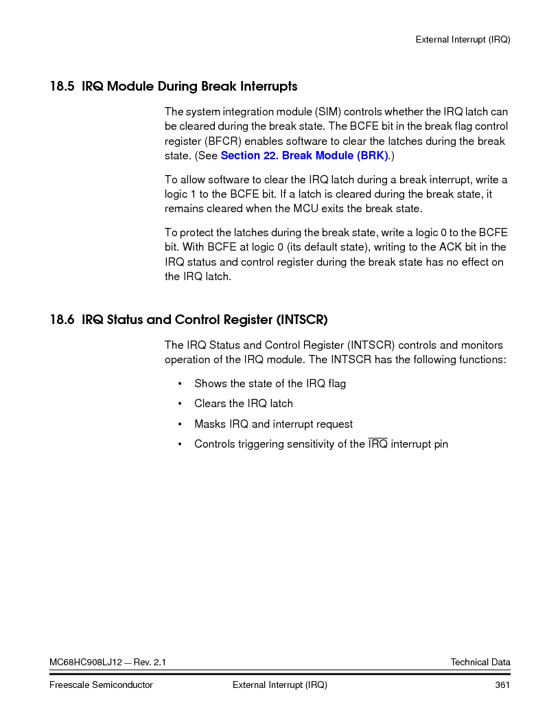 MC908LJ12CFUE ,Freescale Semiconductor厂商,IC MCU 12K FLASH 4/8MHZ 64-QFP, MC908LJ12CFUE datasheet预览  第361页
