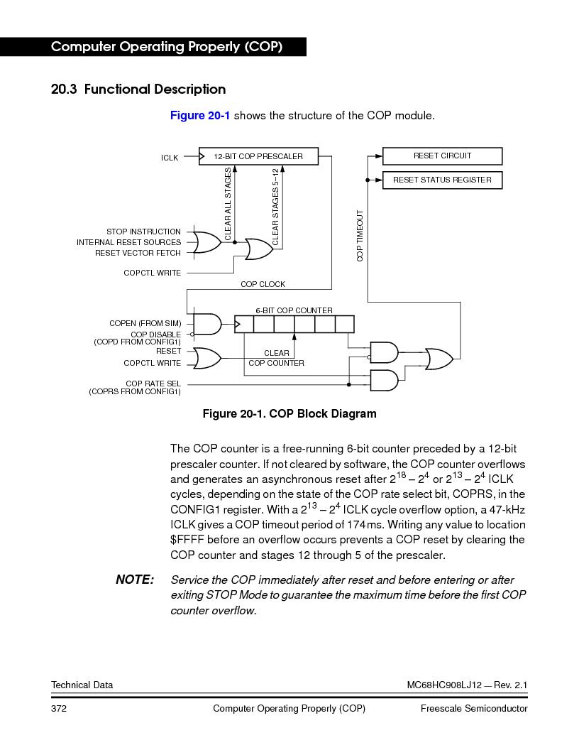 MC908LJ12CFUE ,Freescale Semiconductor厂商,IC MCU 12K FLASH 4/8MHZ 64-QFP, MC908LJ12CFUE datasheet预览  第372页