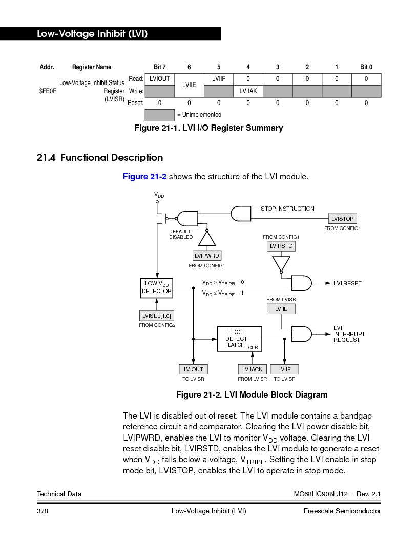 MC908LJ12CFUE ,Freescale Semiconductor厂商,IC MCU 12K FLASH 4/8MHZ 64-QFP, MC908LJ12CFUE datasheet预览  第378页