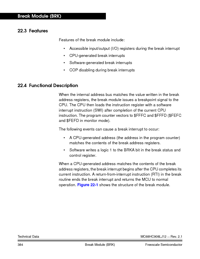 MC908LJ12CFUE ,Freescale Semiconductor厂商,IC MCU 12K FLASH 4/8MHZ 64-QFP, MC908LJ12CFUE datasheet预览  第384页
