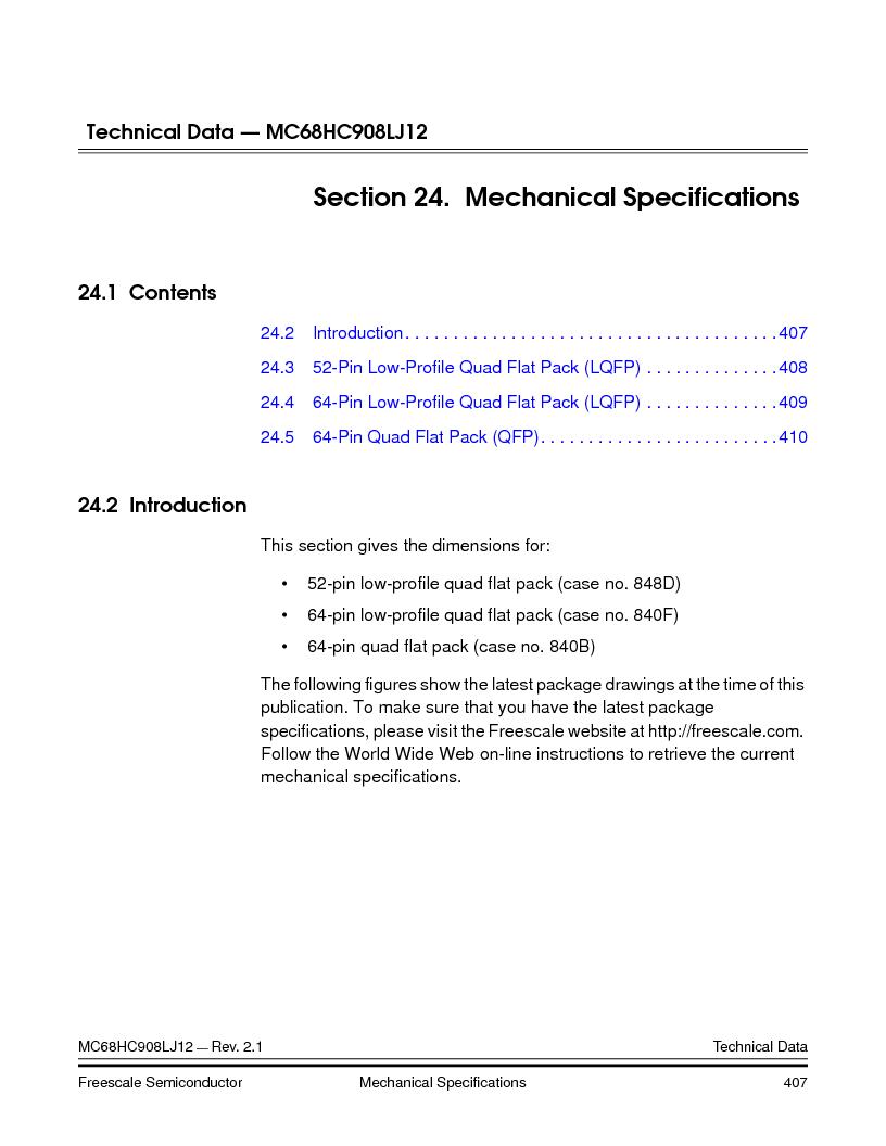 MC908LJ12CFUE ,Freescale Semiconductor厂商,IC MCU 12K FLASH 4/8MHZ 64-QFP, MC908LJ12CFUE datasheet预览  第407页