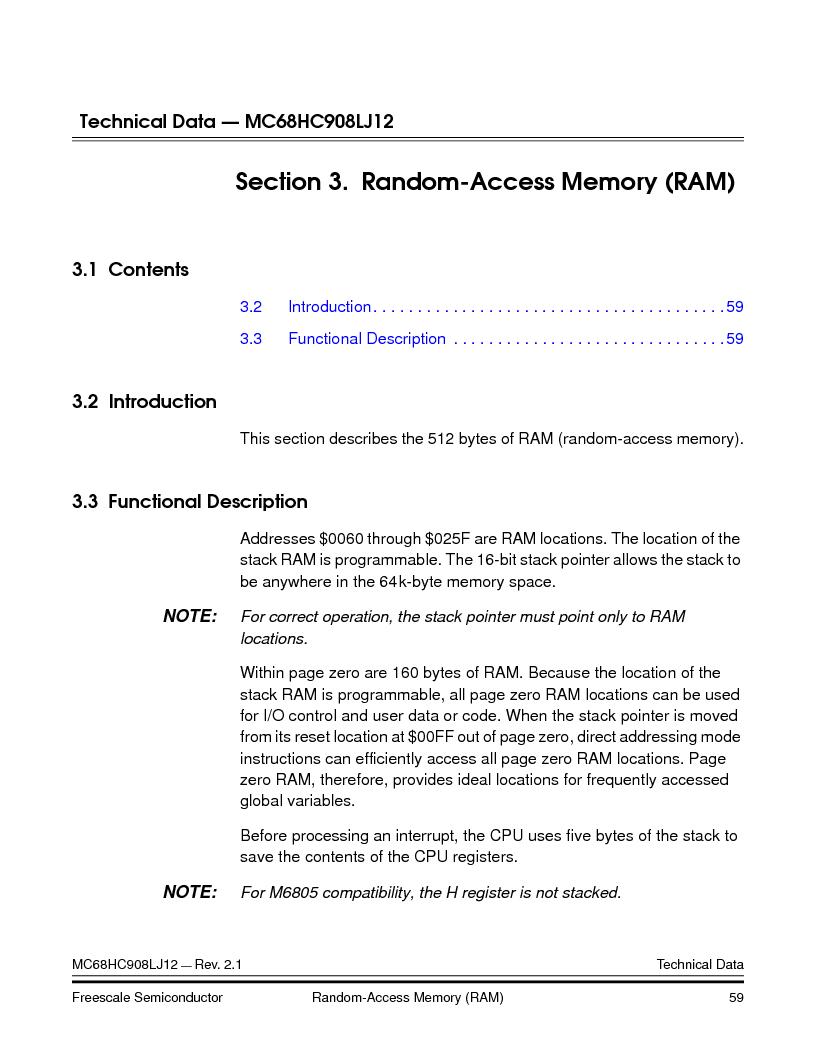 MC908LJ12CFUE ,Freescale Semiconductor厂商,IC MCU 12K FLASH 4/8MHZ 64-QFP, MC908LJ12CFUE datasheet预览  第59页