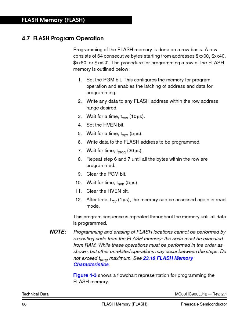 MC908LJ12CFUE ,Freescale Semiconductor厂商,IC MCU 12K FLASH 4/8MHZ 64-QFP, MC908LJ12CFUE datasheet预览  第66页
