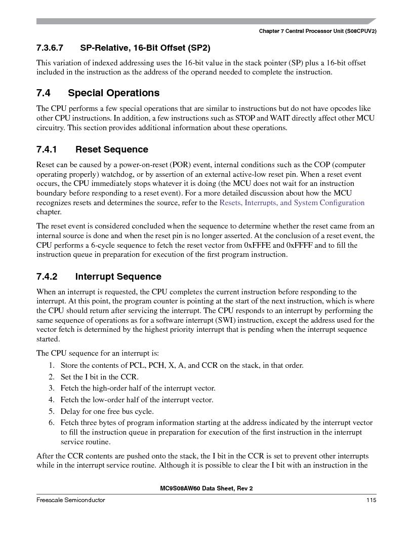 MC9S08AW16MFDE ,Freescale Semiconductor厂商,IC MCU 8BIT 16K FLASH 48-QFN, MC9S08AW16MFDE datasheet预览  第115页