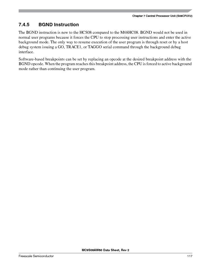 MC9S08AW16MFDE ,Freescale Semiconductor厂商,IC MCU 8BIT 16K FLASH 48-QFN, MC9S08AW16MFDE datasheet预览  第117页