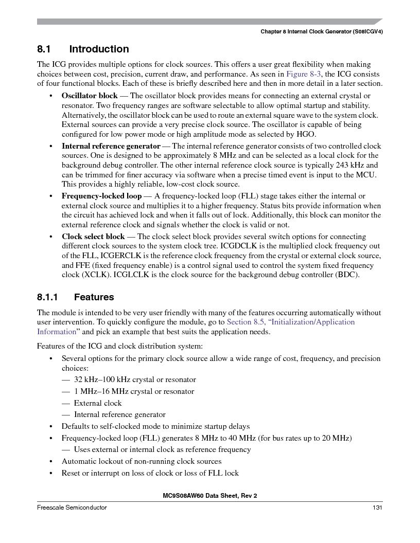 MC9S08AW16MFDE ,Freescale Semiconductor厂商,IC MCU 8BIT 16K FLASH 48-QFN, MC9S08AW16MFDE datasheet预览  第131页