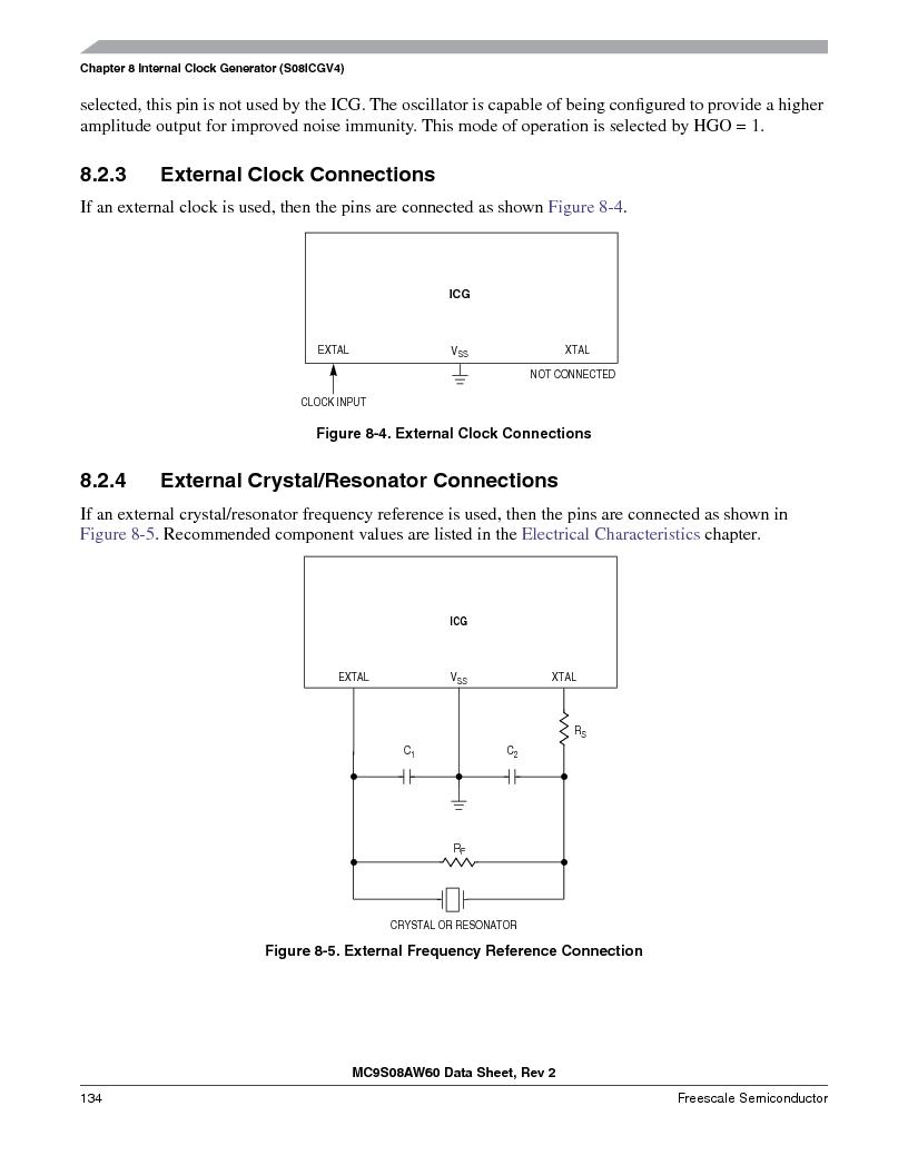 MC9S08AW16MFDE ,Freescale Semiconductor厂商,IC MCU 8BIT 16K FLASH 48-QFN, MC9S08AW16MFDE datasheet预览  第134页
