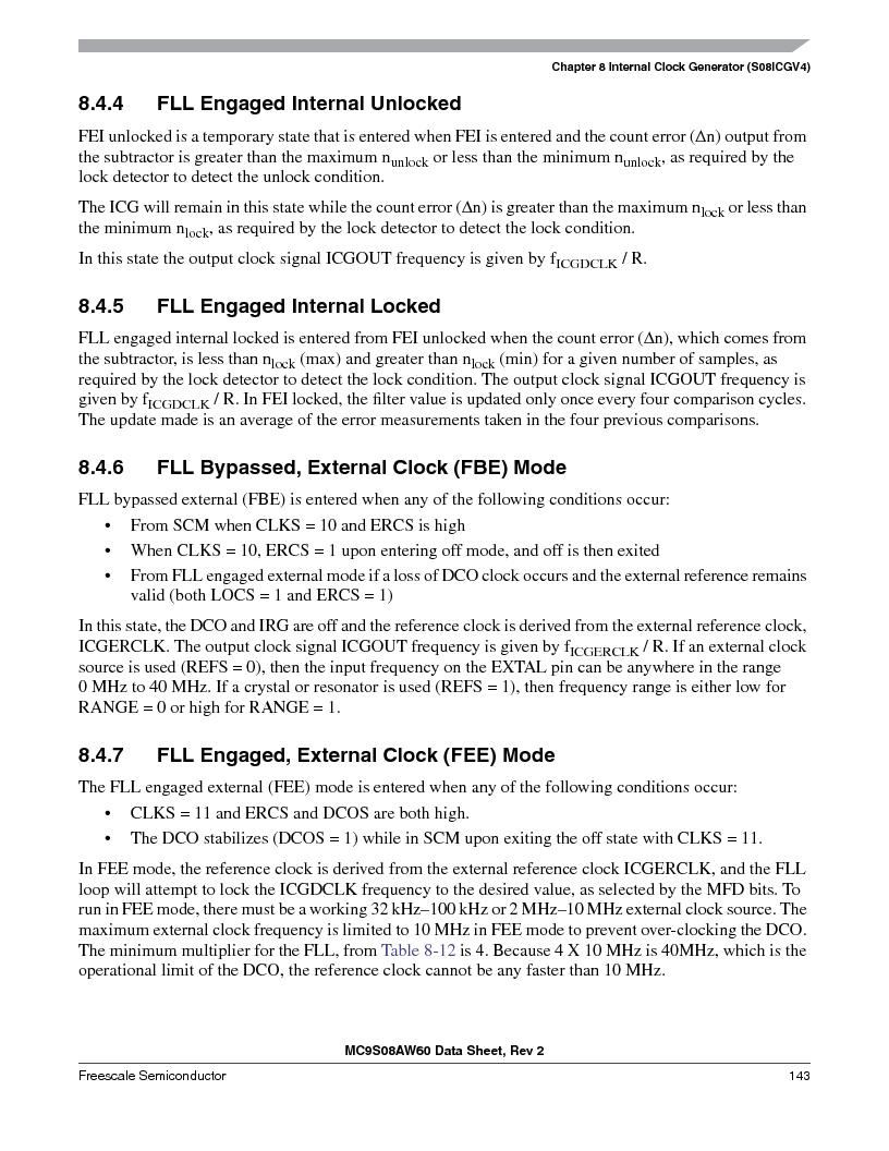MC9S08AW16MFDE ,Freescale Semiconductor厂商,IC MCU 8BIT 16K FLASH 48-QFN, MC9S08AW16MFDE datasheet预览  第143页