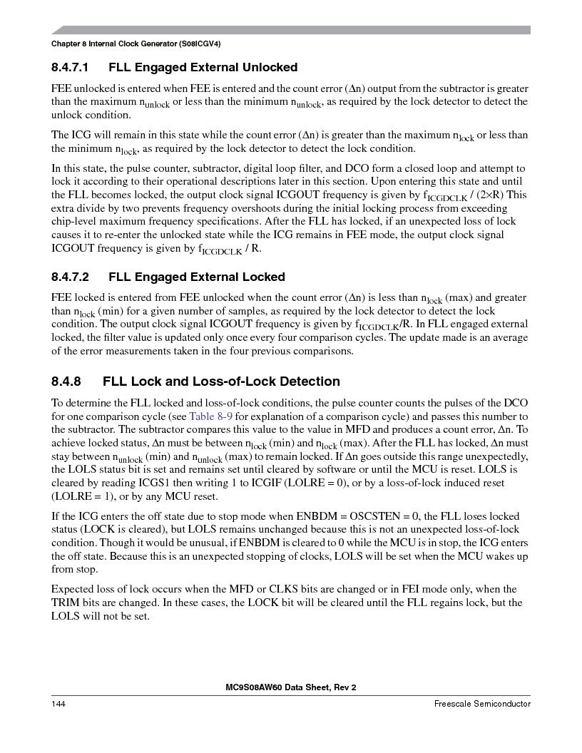 MC9S08AW16MFDE ,Freescale Semiconductor厂商,IC MCU 8BIT 16K FLASH 48-QFN, MC9S08AW16MFDE datasheet预览  第144页