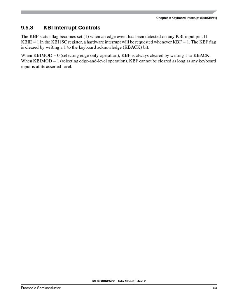 MC9S08AW16MFDE ,Freescale Semiconductor厂商,IC MCU 8BIT 16K FLASH 48-QFN, MC9S08AW16MFDE datasheet预览  第163页