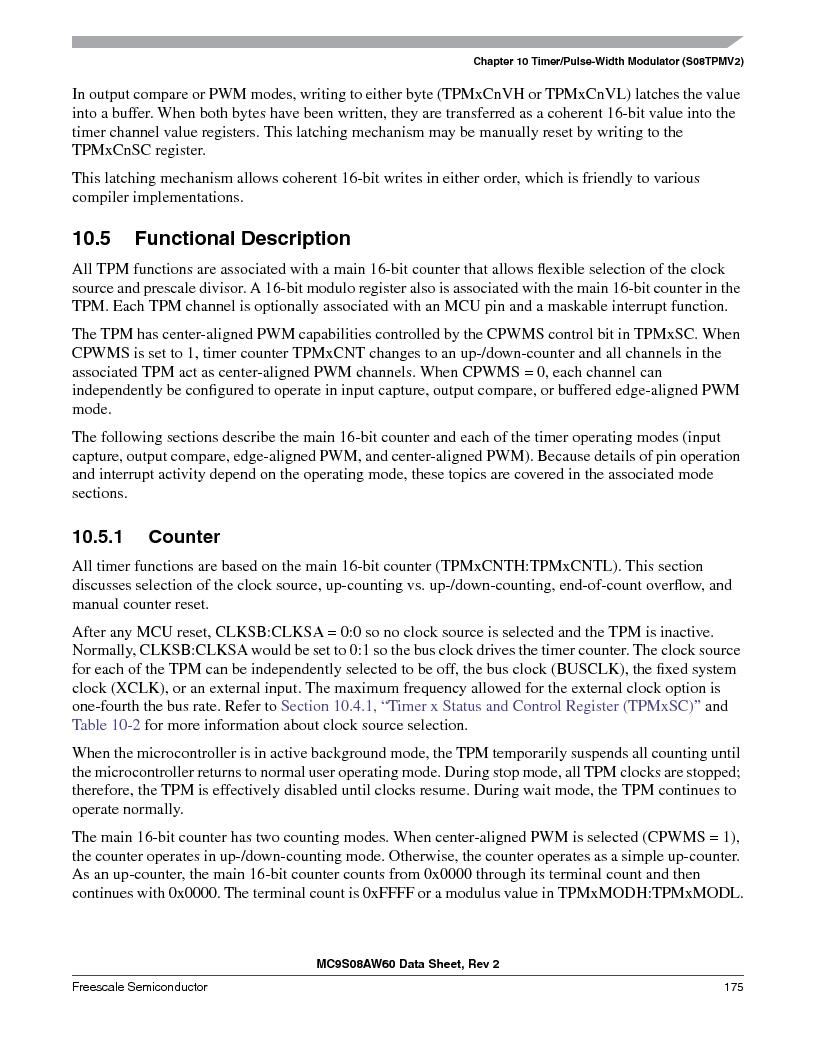 MC9S08AW16MFDE ,Freescale Semiconductor厂商,IC MCU 8BIT 16K FLASH 48-QFN, MC9S08AW16MFDE datasheet预览  第175页