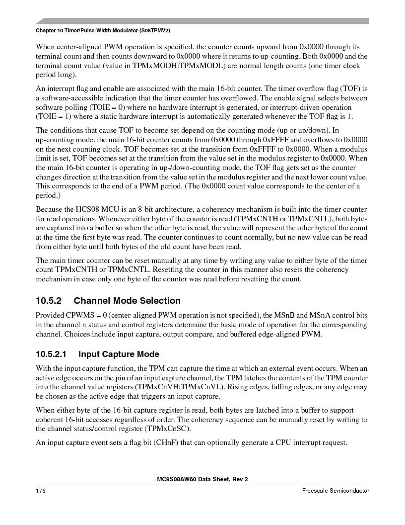 MC9S08AW16MFDE ,Freescale Semiconductor厂商,IC MCU 8BIT 16K FLASH 48-QFN, MC9S08AW16MFDE datasheet预览  第176页