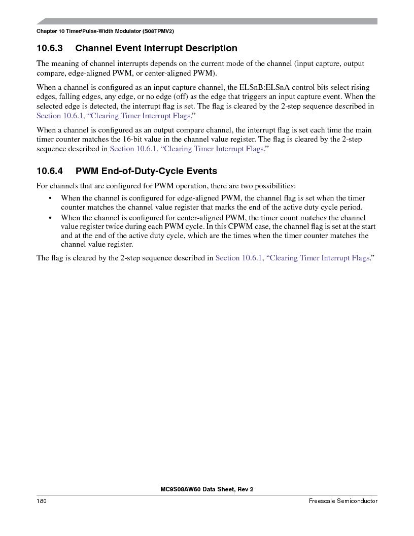 MC9S08AW16MFDE ,Freescale Semiconductor厂商,IC MCU 8BIT 16K FLASH 48-QFN, MC9S08AW16MFDE datasheet预览  第180页
