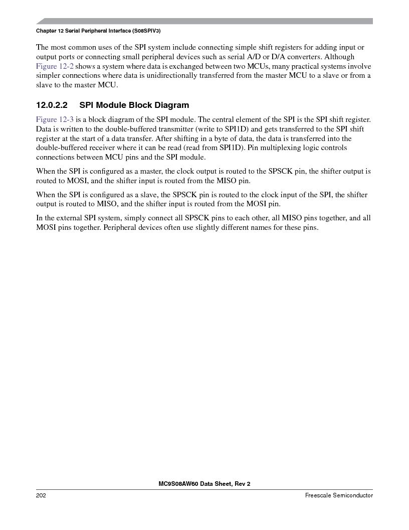 MC9S08AW16MFDE ,Freescale Semiconductor厂商,IC MCU 8BIT 16K FLASH 48-QFN, MC9S08AW16MFDE datasheet预览  第202页