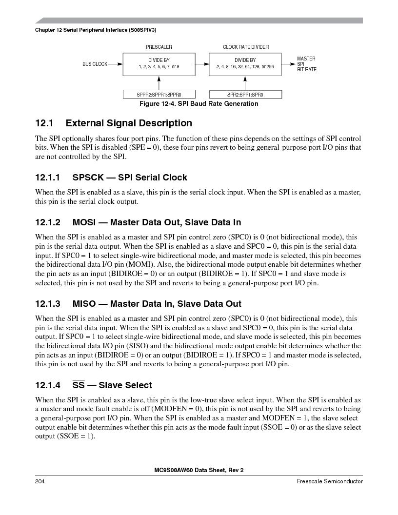 MC9S08AW16MFDE ,Freescale Semiconductor厂商,IC MCU 8BIT 16K FLASH 48-QFN, MC9S08AW16MFDE datasheet预览  第204页