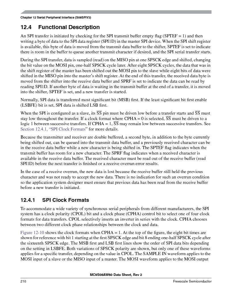 MC9S08AW16MFDE ,Freescale Semiconductor厂商,IC MCU 8BIT 16K FLASH 48-QFN, MC9S08AW16MFDE datasheet预览  第210页