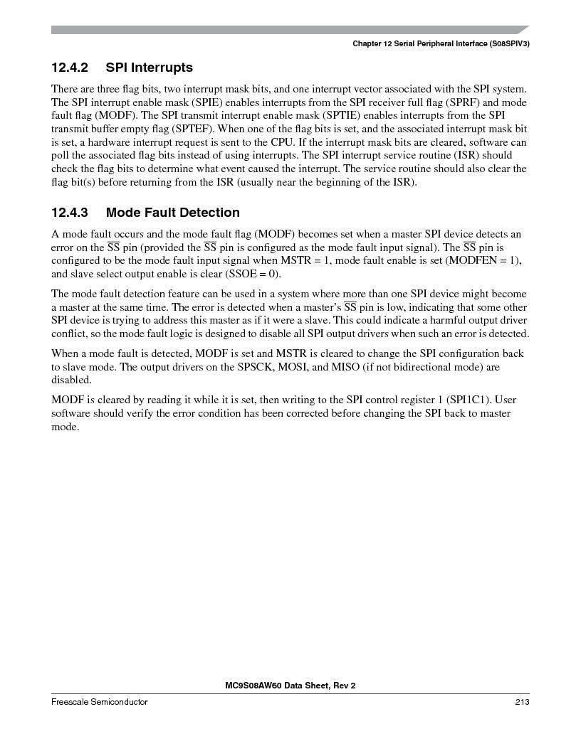 MC9S08AW16MFDE ,Freescale Semiconductor厂商,IC MCU 8BIT 16K FLASH 48-QFN, MC9S08AW16MFDE datasheet预览  第213页