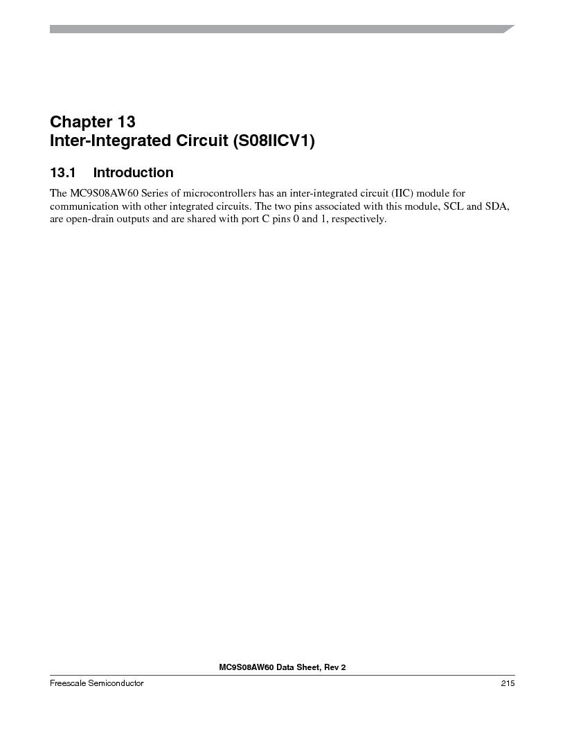 MC9S08AW16MFDE ,Freescale Semiconductor厂商,IC MCU 8BIT 16K FLASH 48-QFN, MC9S08AW16MFDE datasheet预览  第215页