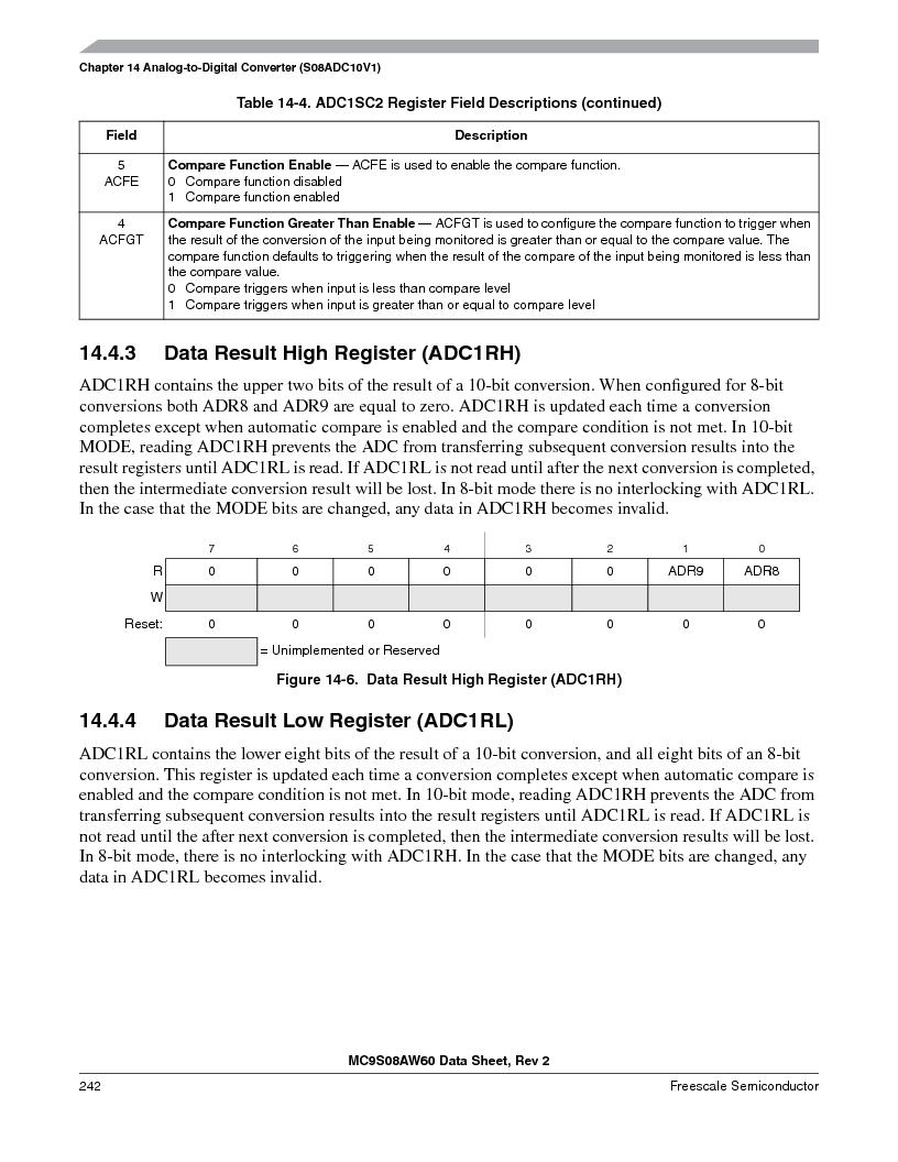 MC9S08AW16MFDE ,Freescale Semiconductor厂商,IC MCU 8BIT 16K FLASH 48-QFN, MC9S08AW16MFDE datasheet预览  第242页