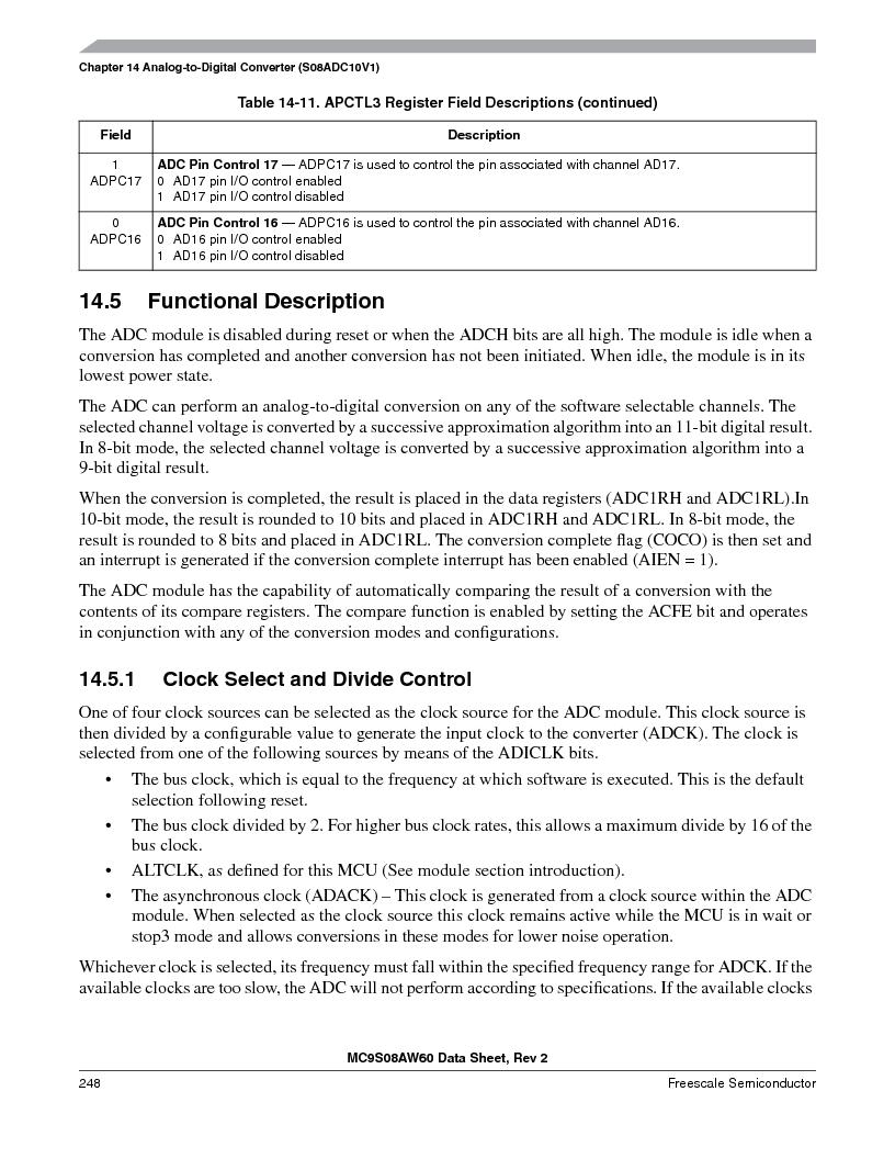 MC9S08AW16MFDE ,Freescale Semiconductor厂商,IC MCU 8BIT 16K FLASH 48-QFN, MC9S08AW16MFDE datasheet预览  第248页