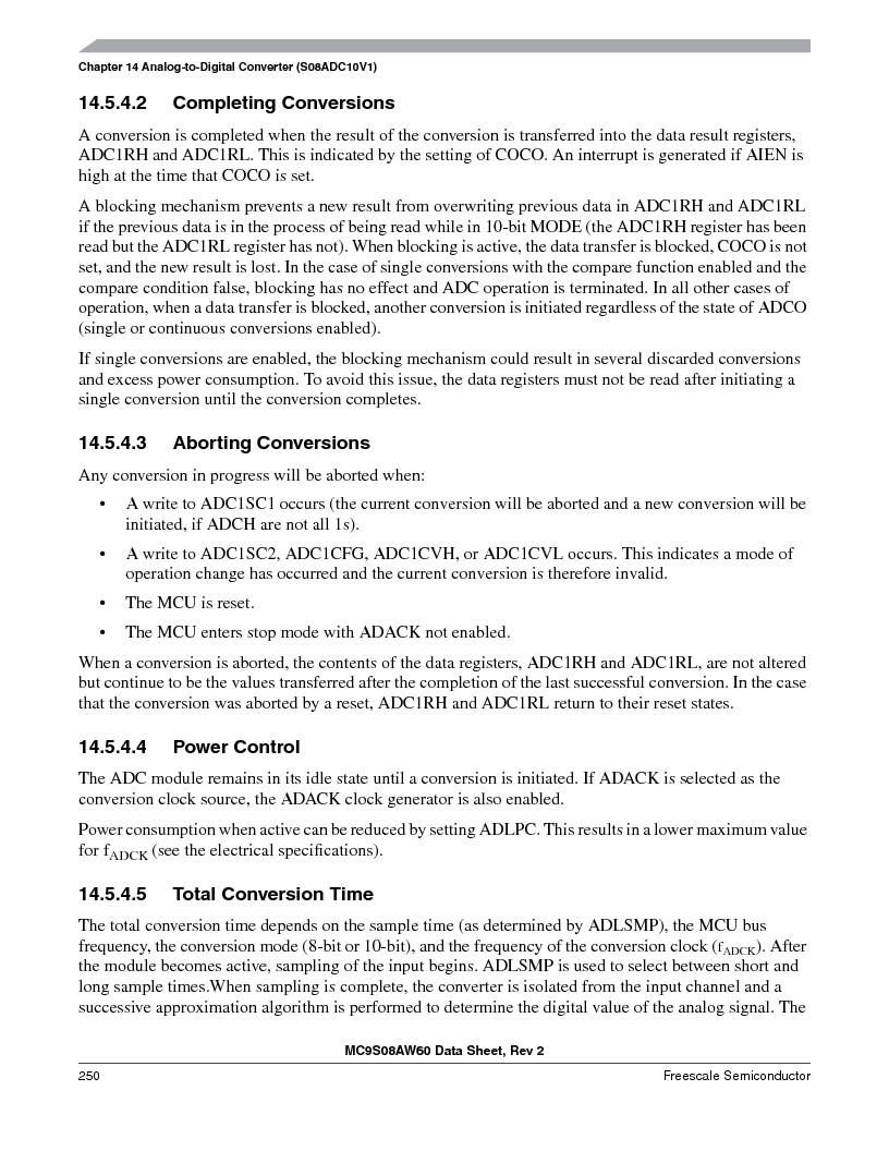 MC9S08AW16MFDE ,Freescale Semiconductor厂商,IC MCU 8BIT 16K FLASH 48-QFN, MC9S08AW16MFDE datasheet预览  第250页