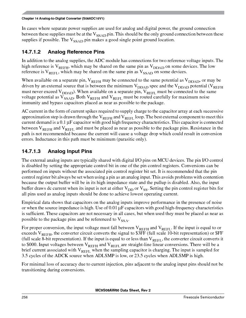 MC9S08AW16MFDE ,Freescale Semiconductor厂商,IC MCU 8BIT 16K FLASH 48-QFN, MC9S08AW16MFDE datasheet预览  第256页