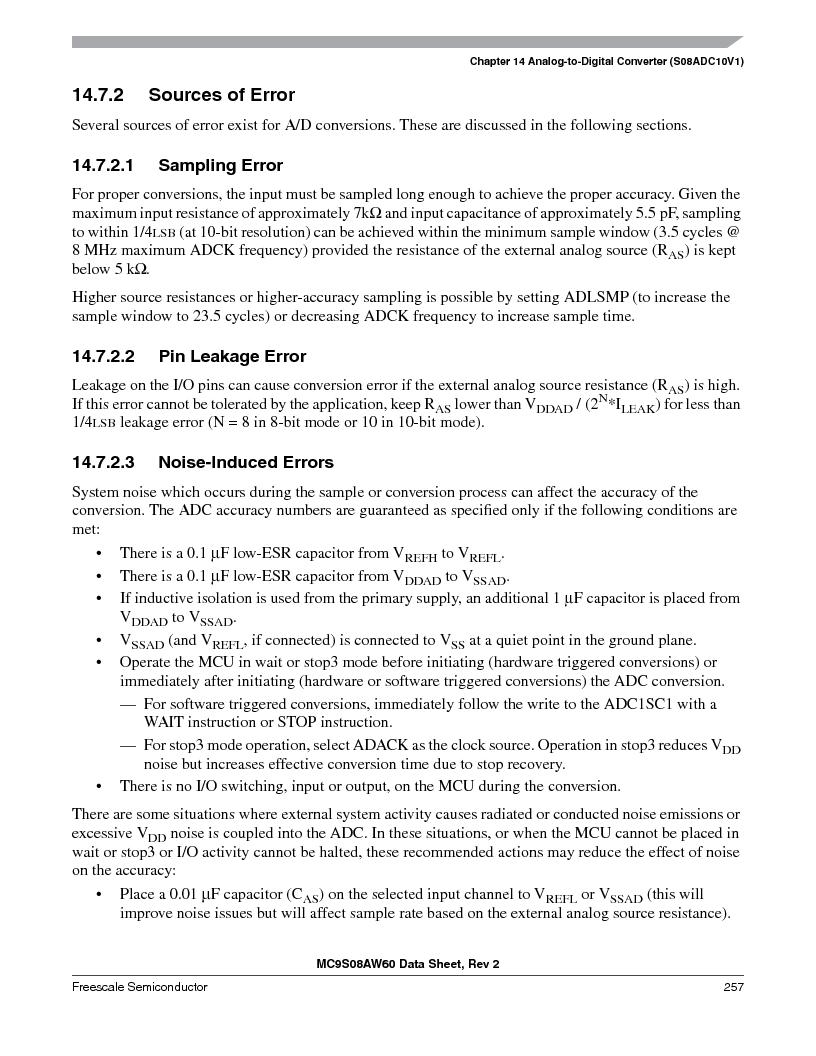 MC9S08AW16MFDE ,Freescale Semiconductor厂商,IC MCU 8BIT 16K FLASH 48-QFN, MC9S08AW16MFDE datasheet预览  第257页