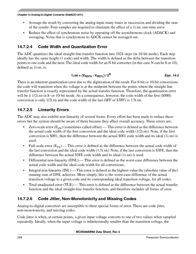 MC9S08AW16MFDE ,Freescale Semiconductor厂商,IC MCU 8BIT 16K FLASH 48-QFN, MC9S08AW16MFDE datasheet预览  第258页