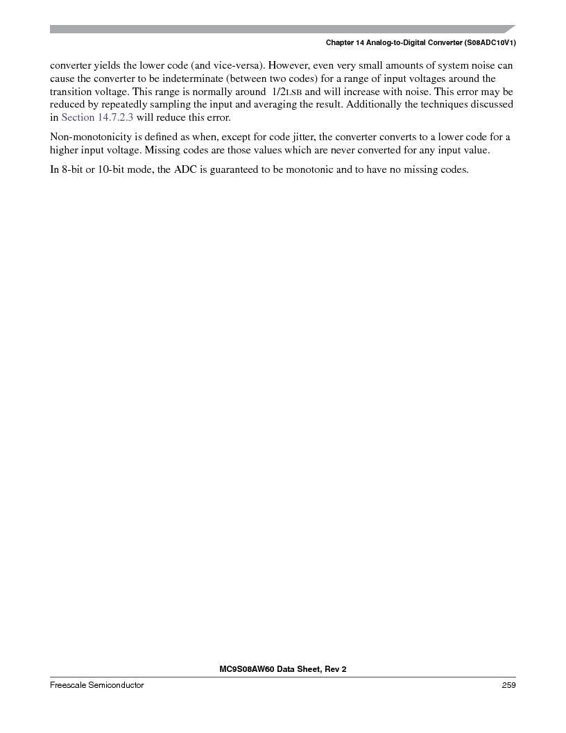 MC9S08AW16MFDE ,Freescale Semiconductor厂商,IC MCU 8BIT 16K FLASH 48-QFN, MC9S08AW16MFDE datasheet预览  第259页