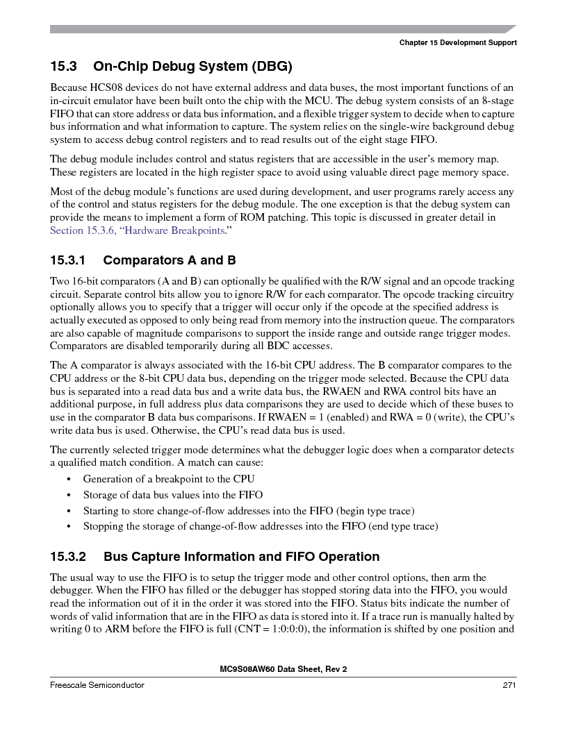 MC9S08AW16MFDE ,Freescale Semiconductor厂商,IC MCU 8BIT 16K FLASH 48-QFN, MC9S08AW16MFDE datasheet预览  第271页
