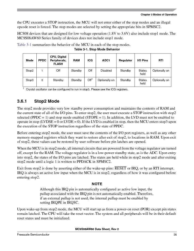 MC9S08AW16MFDE ,Freescale Semiconductor厂商,IC MCU 8BIT 16K FLASH 48-QFN, MC9S08AW16MFDE datasheet预览  第35页