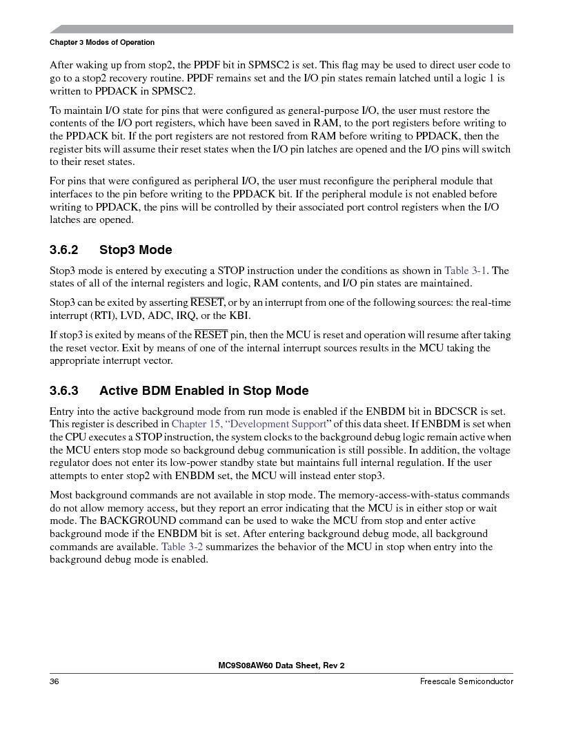 MC9S08AW16MFDE ,Freescale Semiconductor厂商,IC MCU 8BIT 16K FLASH 48-QFN, MC9S08AW16MFDE datasheet预览  第36页