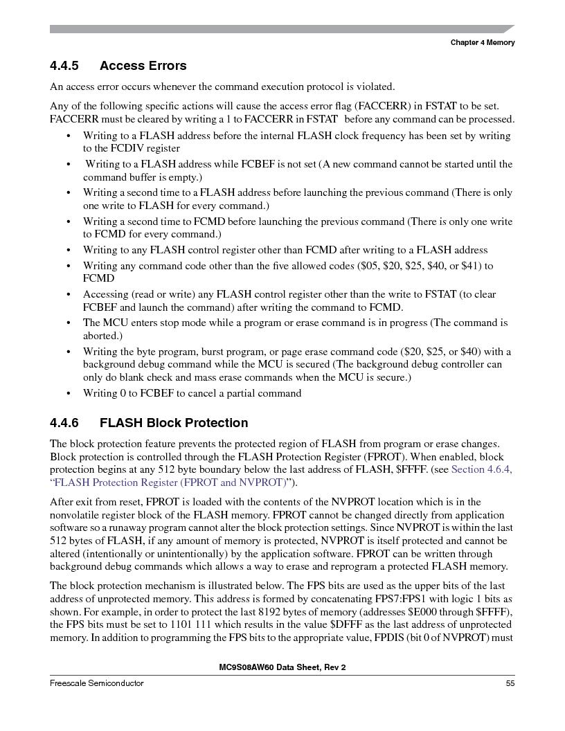 MC9S08AW16MFDE ,Freescale Semiconductor厂商,IC MCU 8BIT 16K FLASH 48-QFN, MC9S08AW16MFDE datasheet预览  第55页
